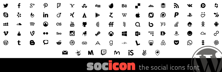 Socicon is a lightweight social icon font, now available as a WordPress plugin.