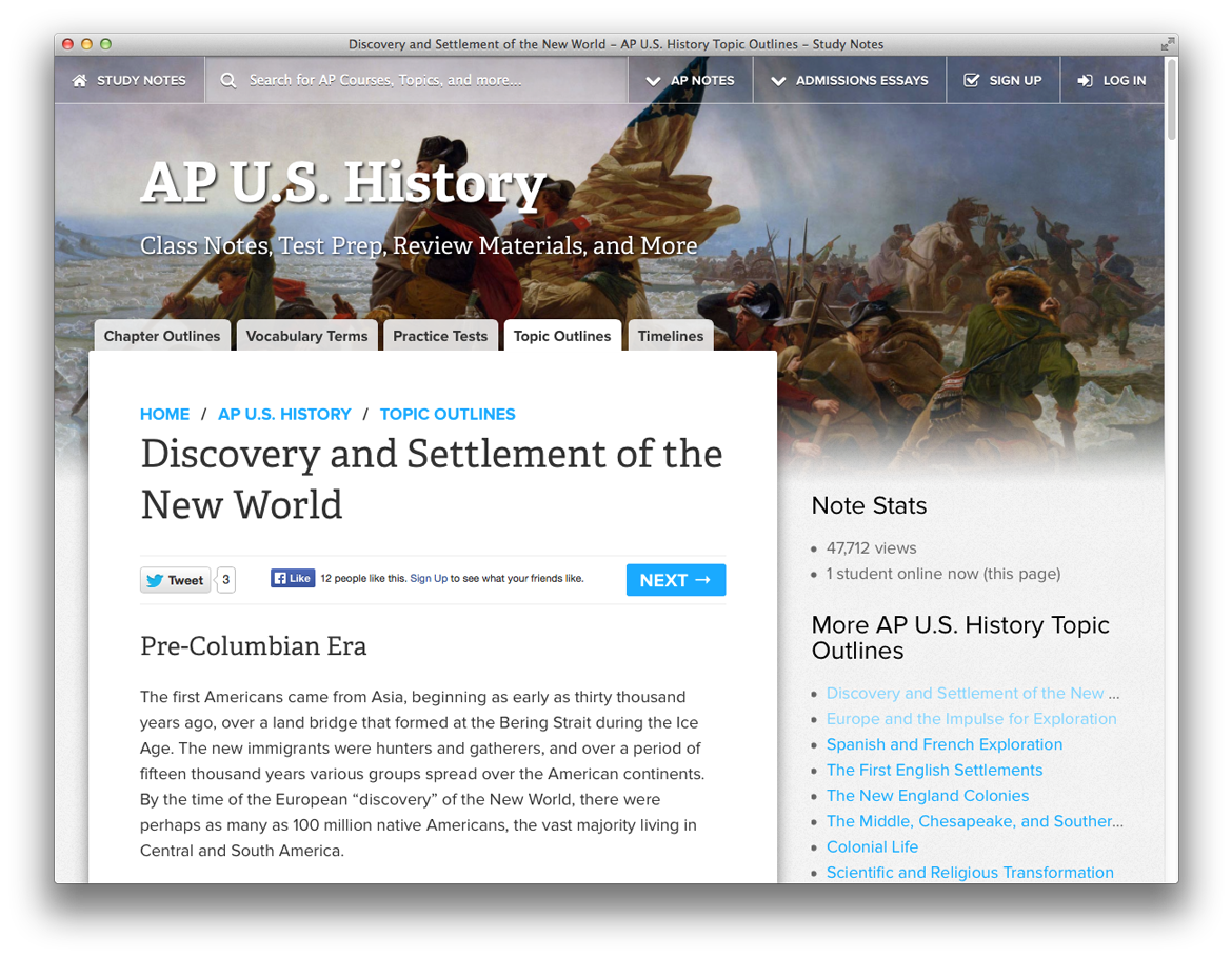 Discovery and Settlement of the New World