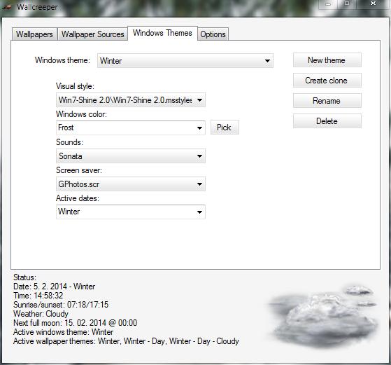 Screenshot: Windows themes