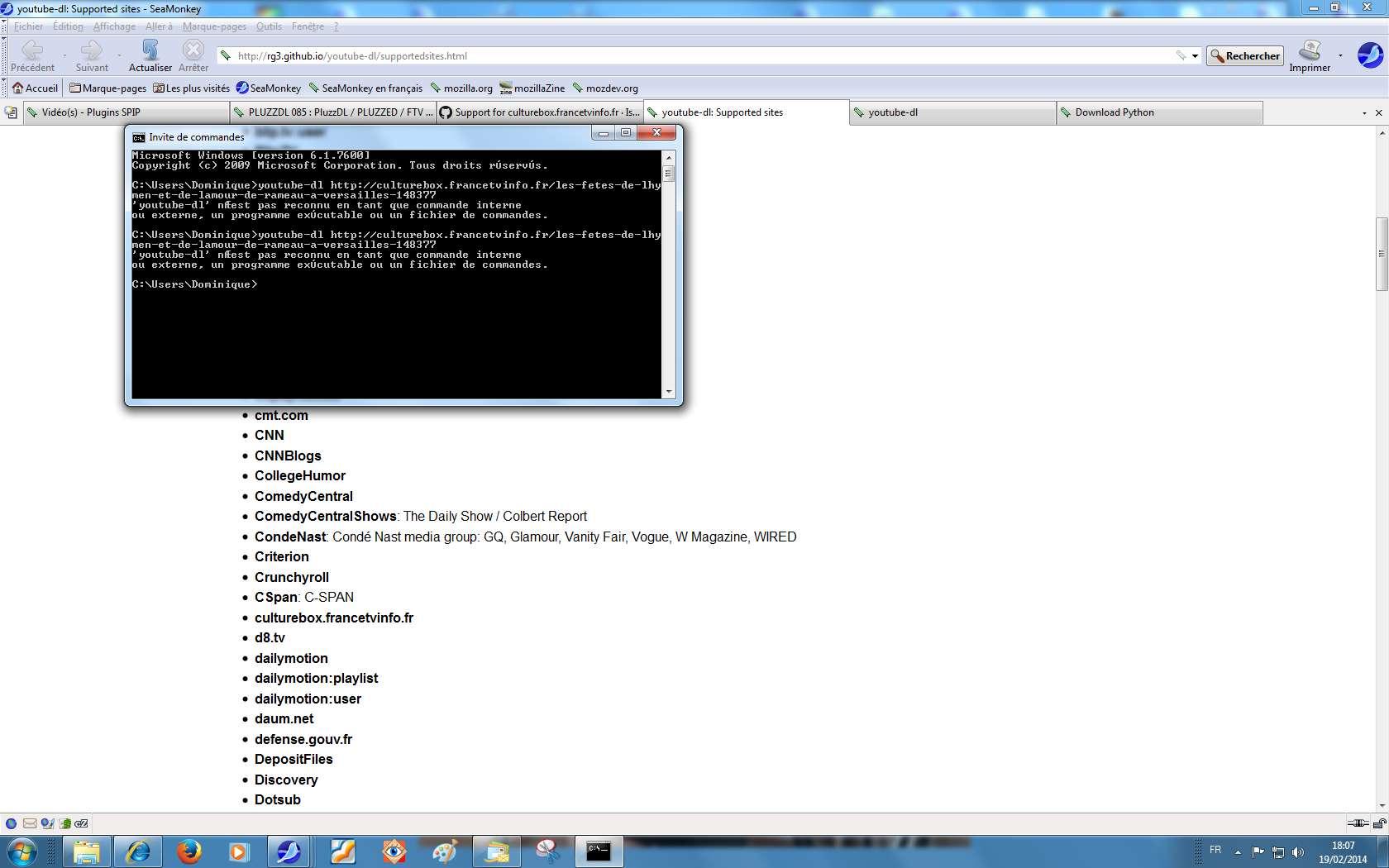 youtube-dl not valid windows 7 program · Issue #2410 · ytdl-org
