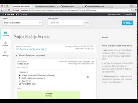 OpenShift 3: Node.js Sample
