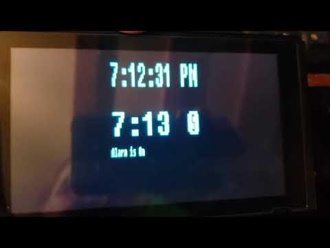 Strobe Alarm Clock Video