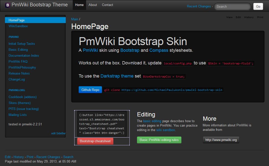 darkstrap screenshot