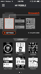 Pebble App screenshot
