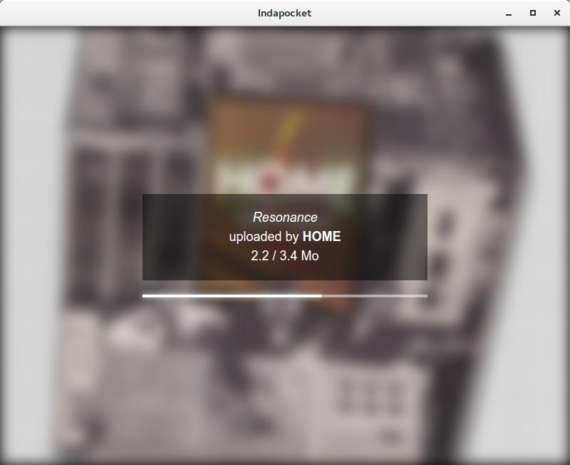 Screenshot of the downloading screen