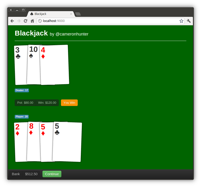 blackjack-spine screenshot