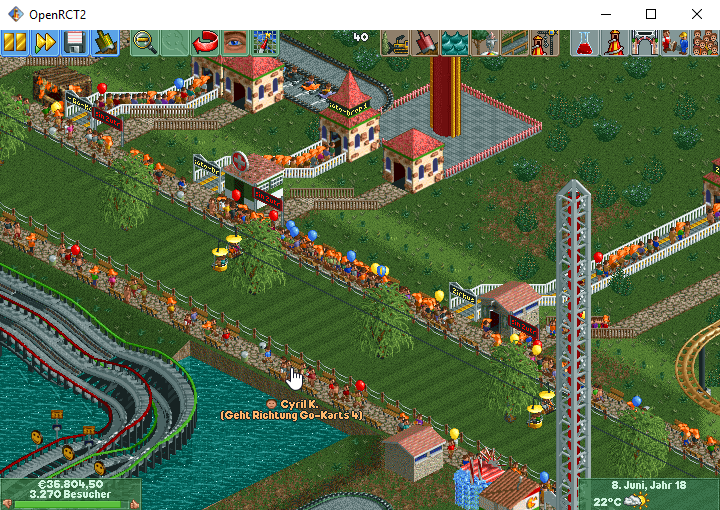Peep jailed on the road  · Issue #4629 · OpenRCT2/OpenRCT2 · GitHub