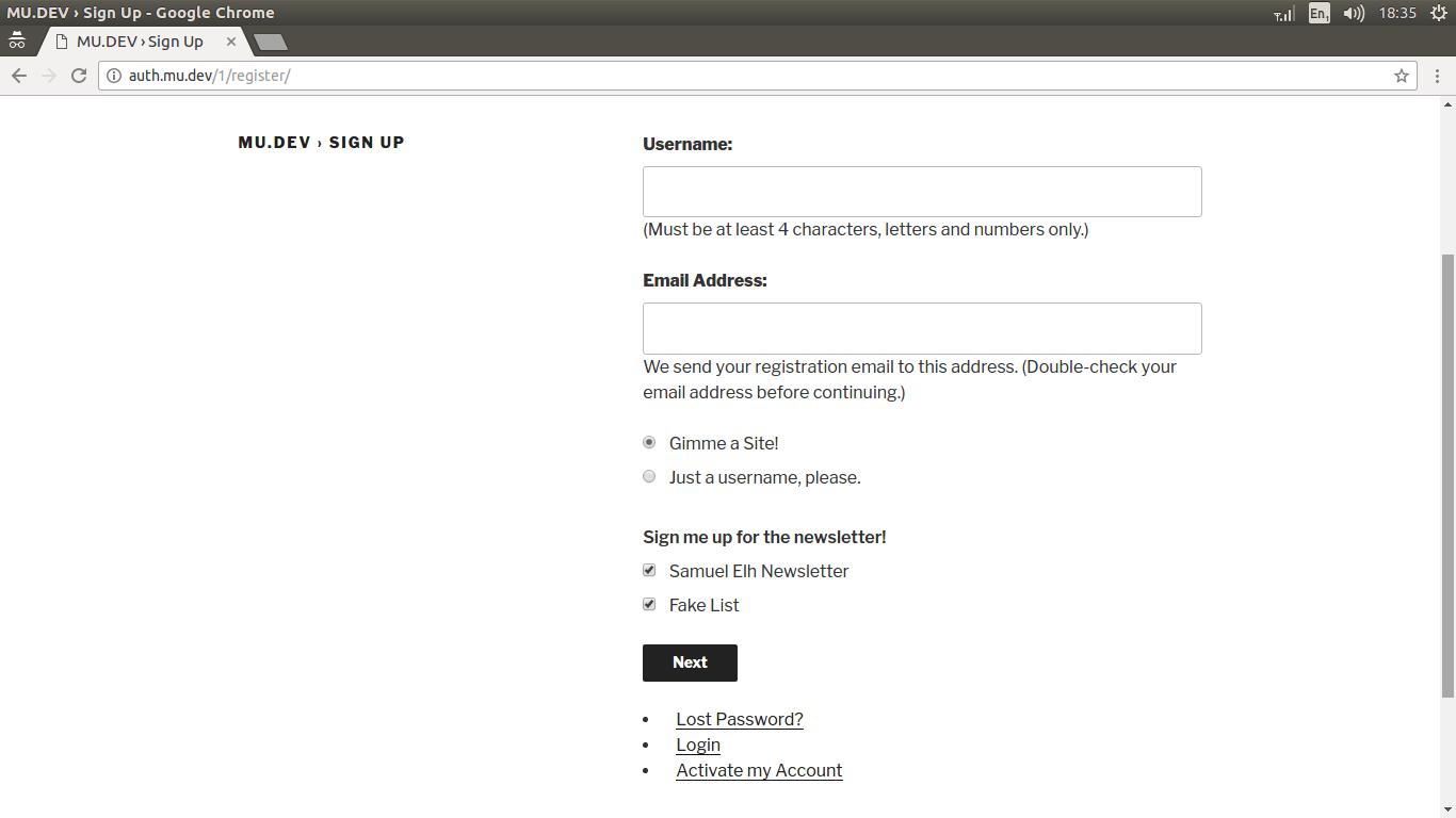 register form preview