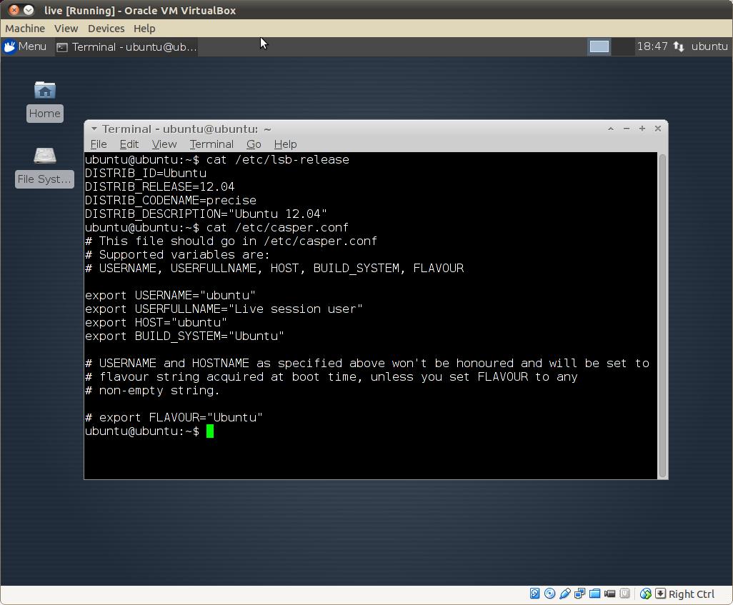 liveCD user/password issue ubuntu mini remix 12 04 · Issue