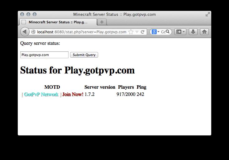 Screenshot of stat.php