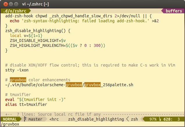 gruvbox_256palette sh gets reset (gnome-terminal on Ubuntu
