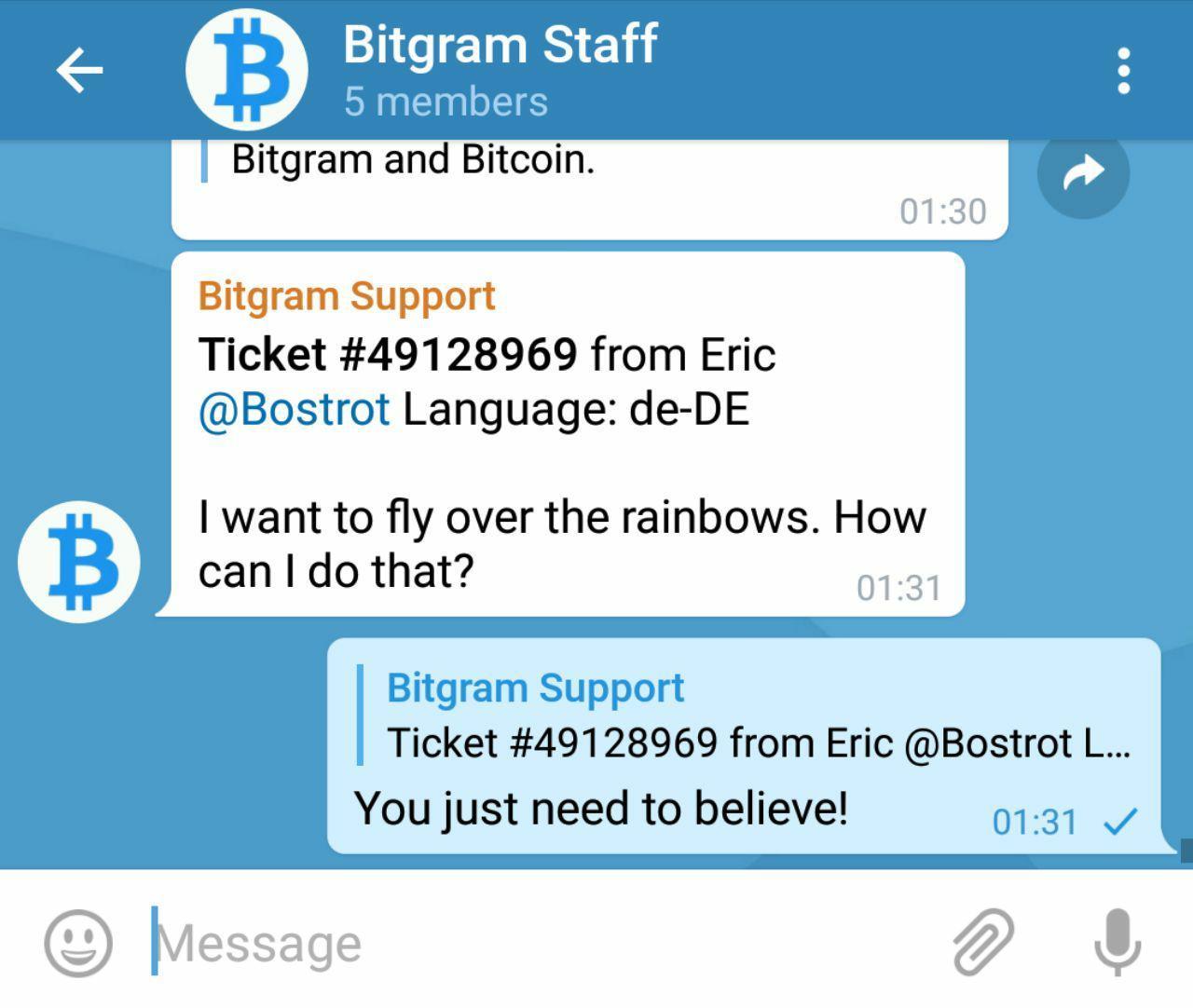 Bitcoin botbots for telegram