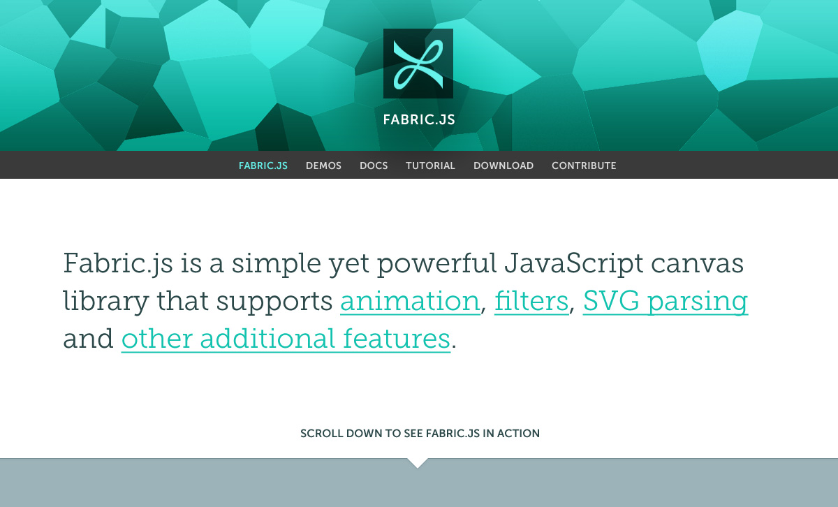 Site redesign [$305] · Issue #671 · fabricjs/fabric js · GitHub