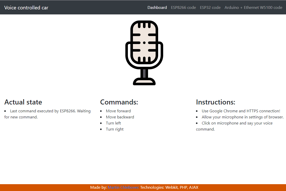 GitHub - martinius96/voice-control-car: Voice controled RC car via
