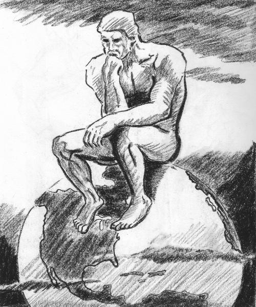 Thinking Man Sketch