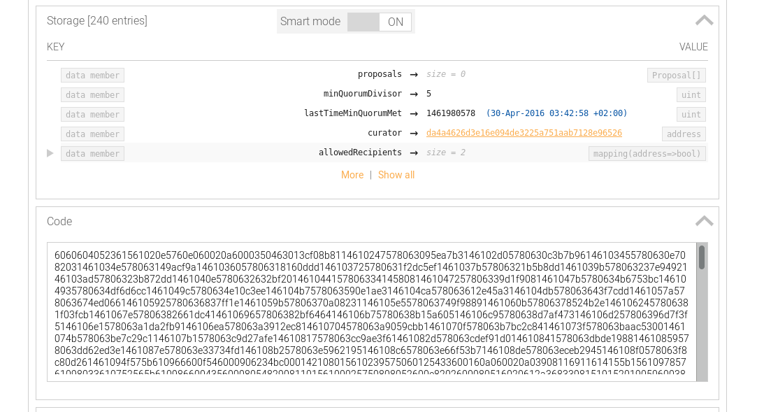 Verifying Code from a blockchain explorer