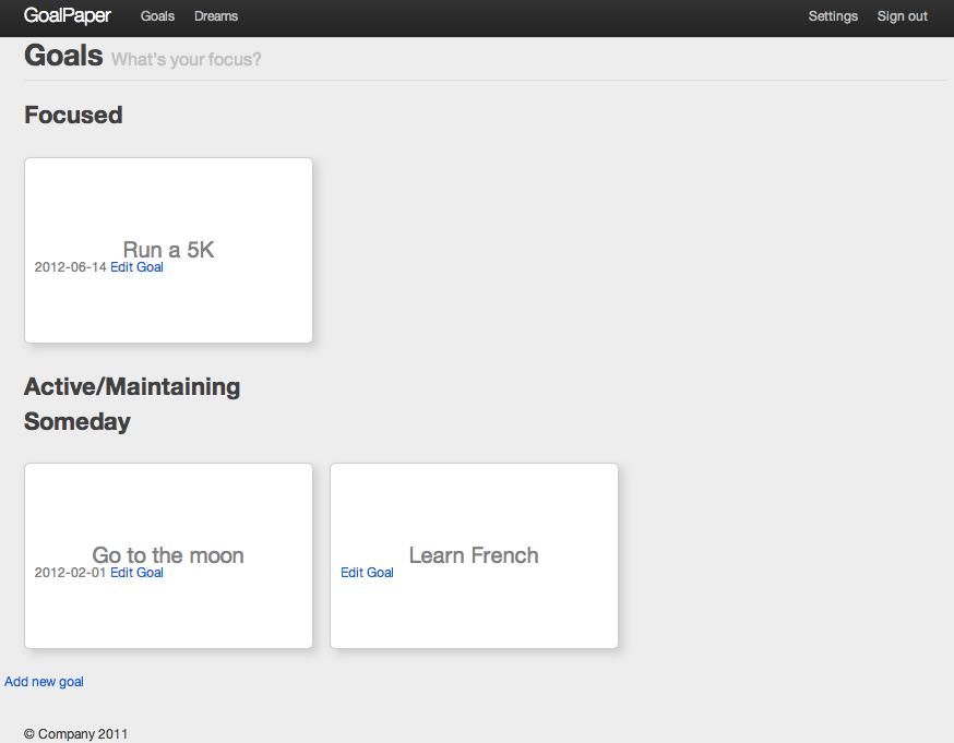 Goals App Screenshot