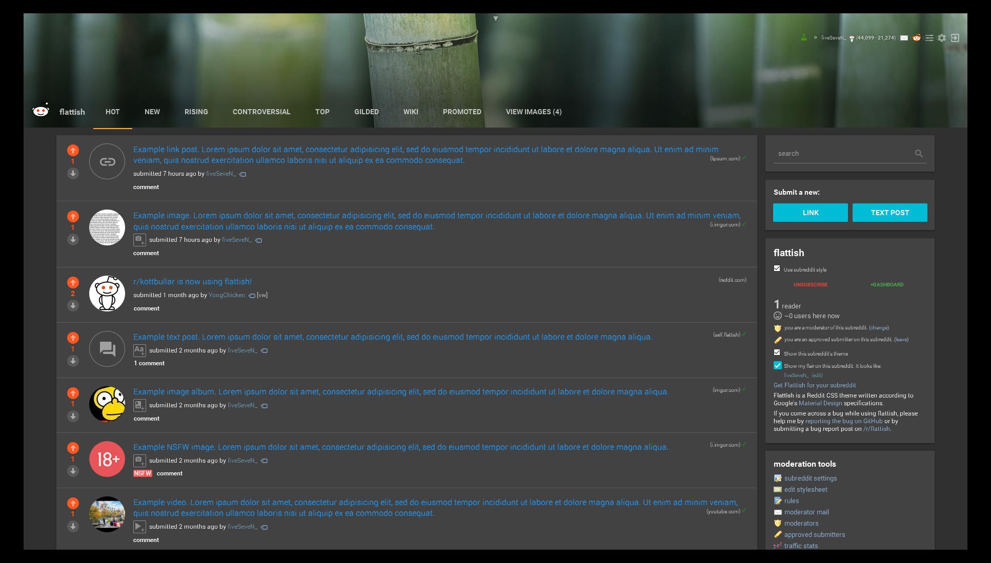 Google themes reddit - Nightmode