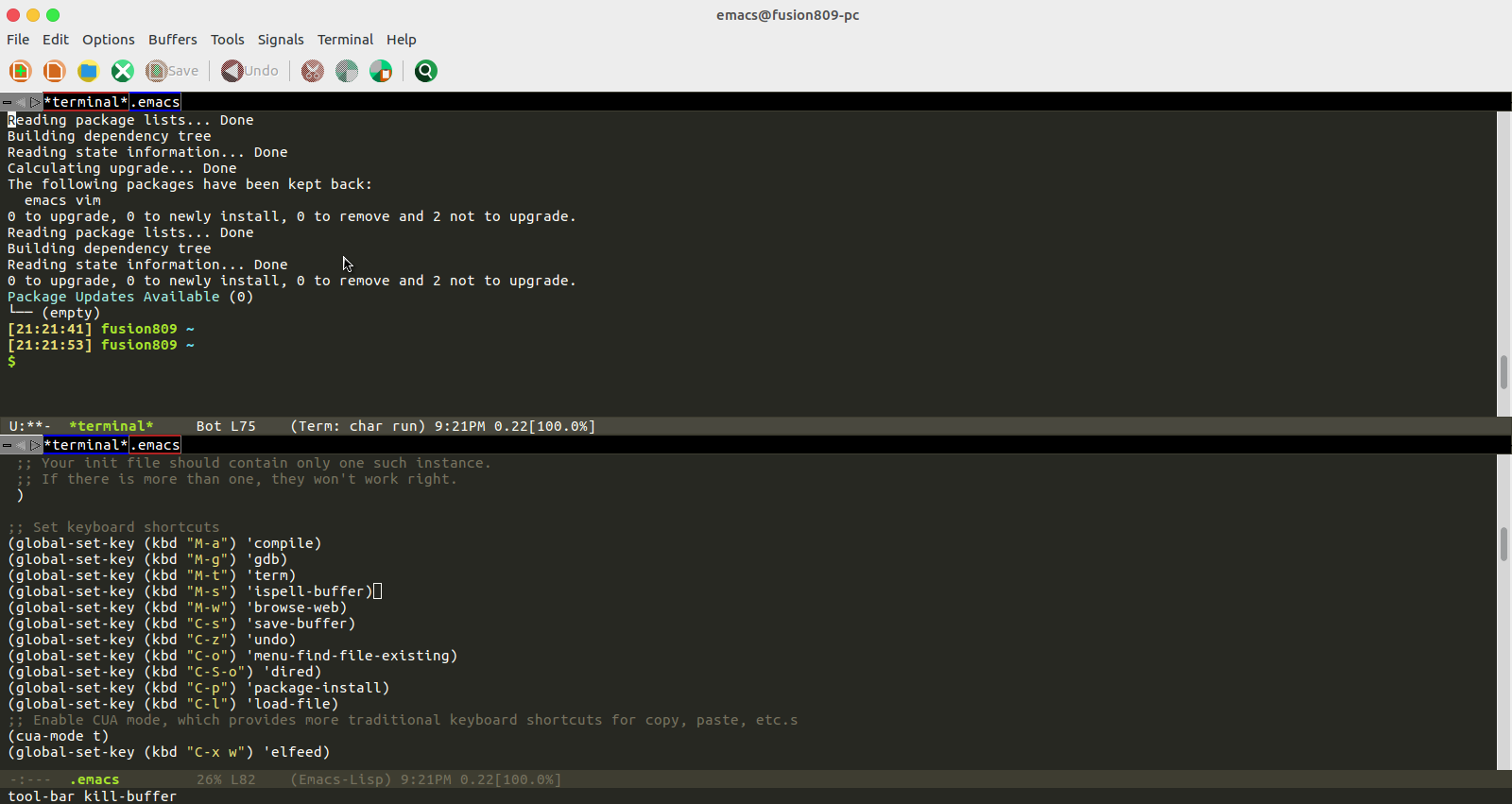 GitHub - fusion809/emacs: My GNU Emacs configuration settings