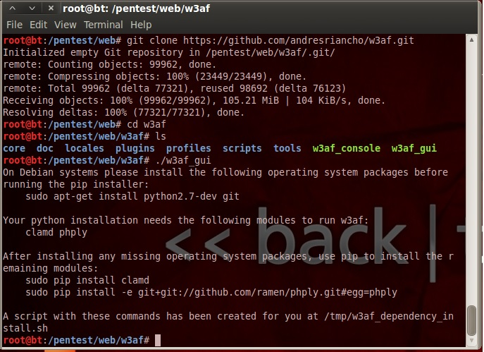 installing 3waf on Backtrack 5 r3 · Issue #502