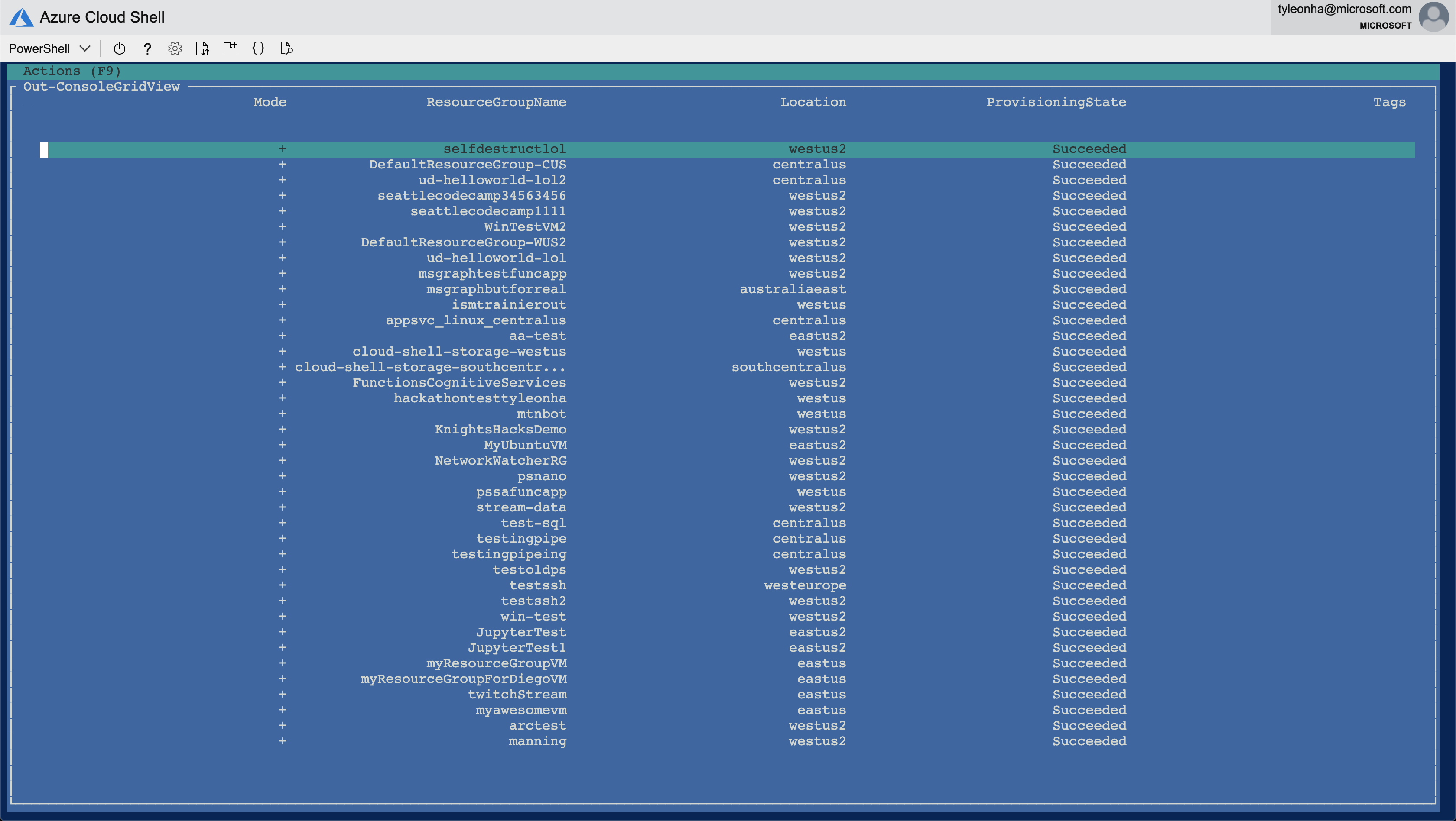 Azure Cloud Shell support