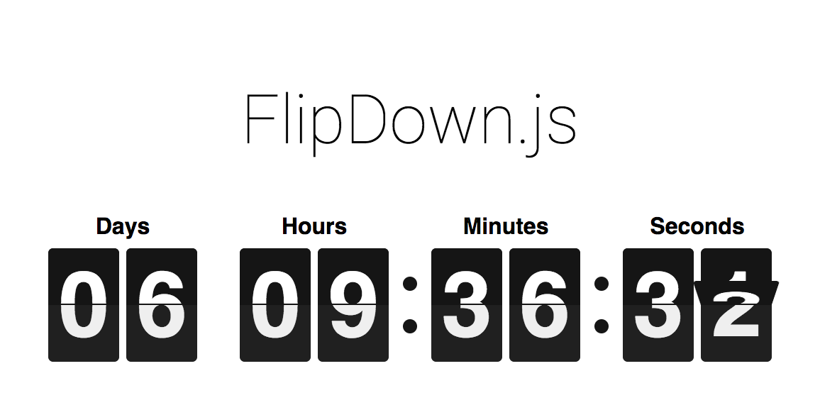 GitHub - PButcher/flipdown: ⏰ A lightweight and performant flip