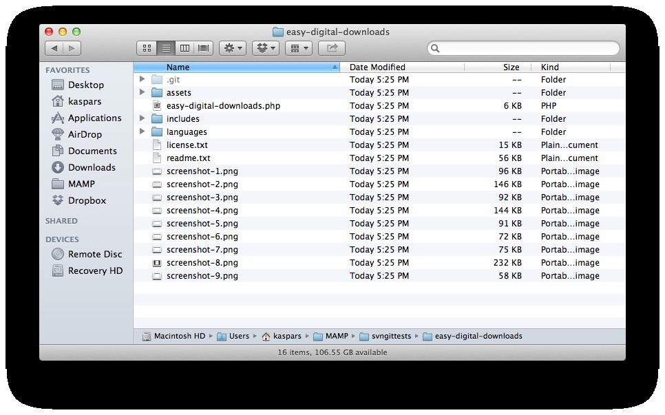 List of plugin files