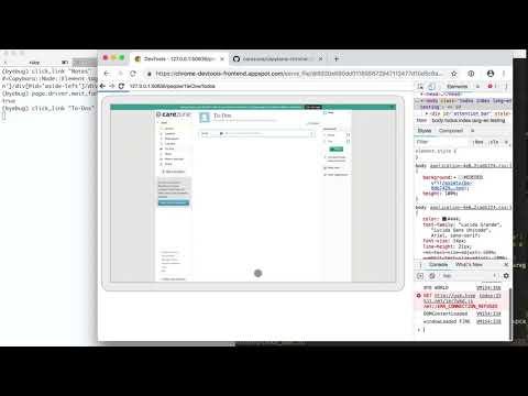 Preview of debugging capybara-chrome