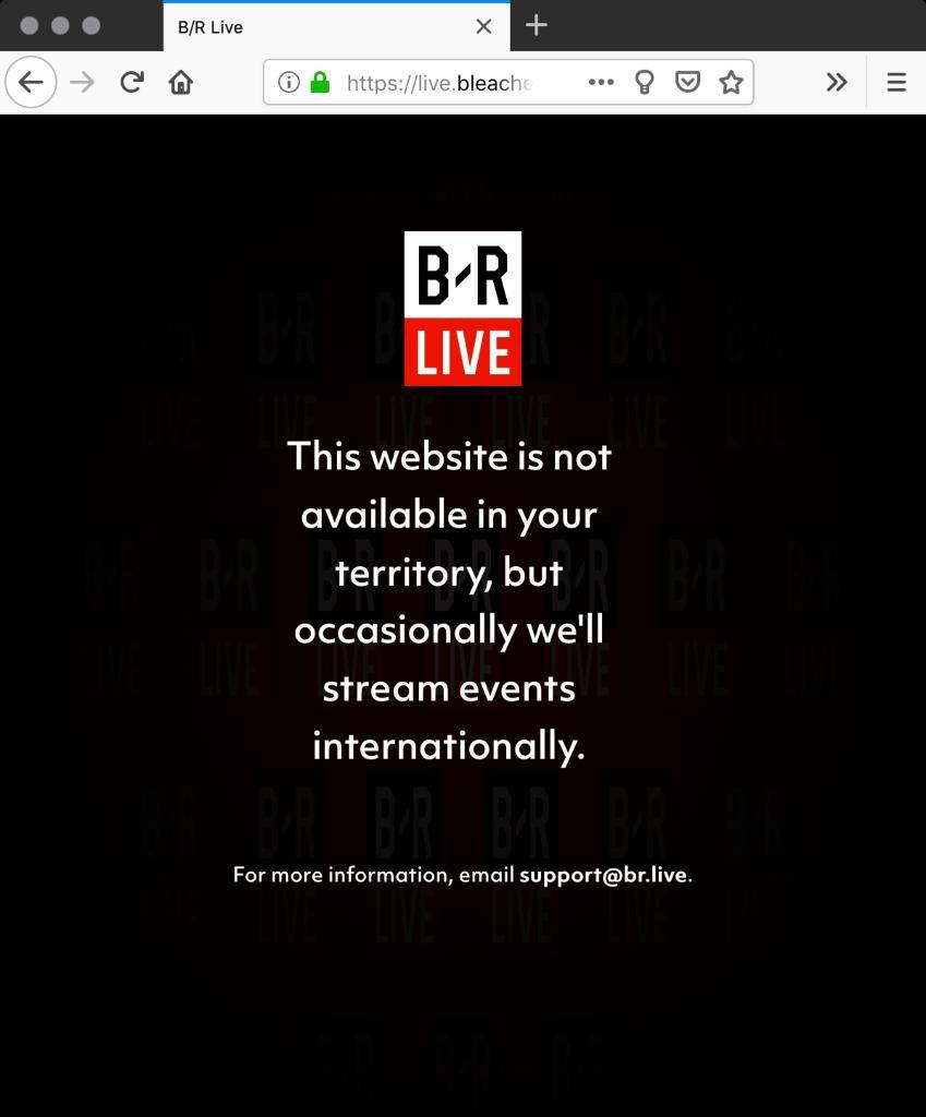 live bleacherreport com - site entirely black in Firefox