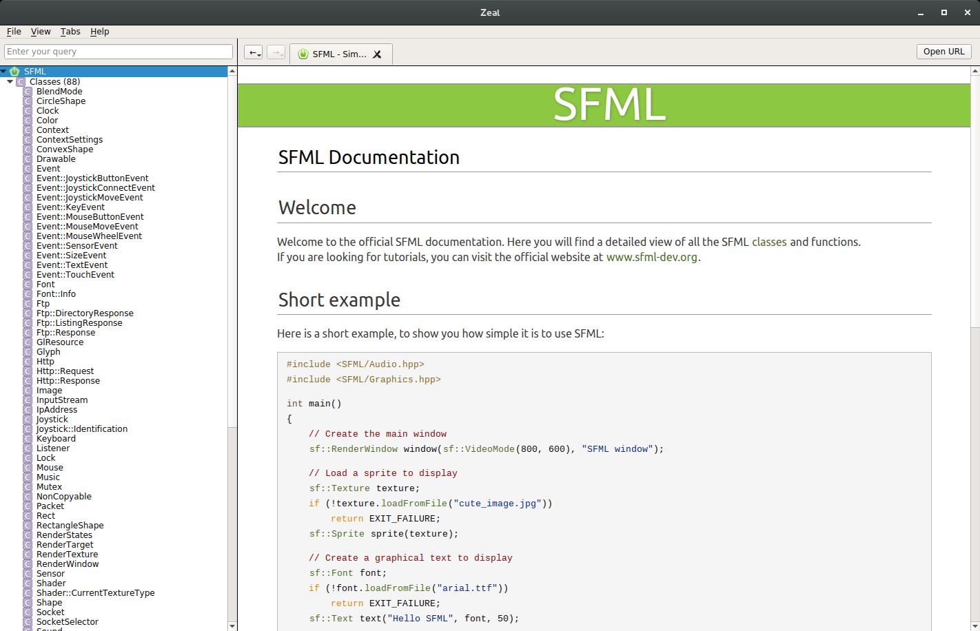 GitHub - tsoding/sfml-docset: Dash docset for SFML