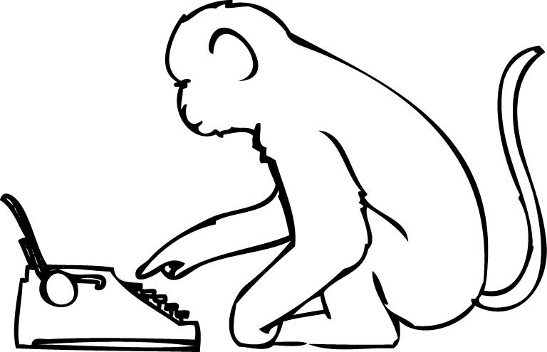 a monkey typing