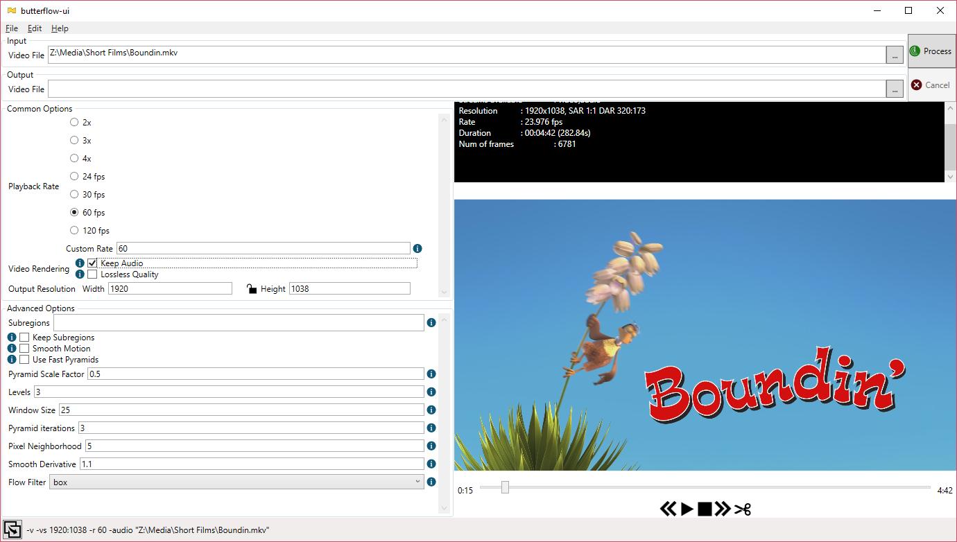 butterflow-ui screenshot
