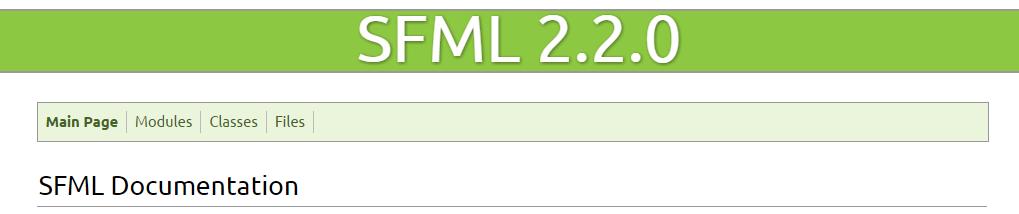 SFML 2.2.0