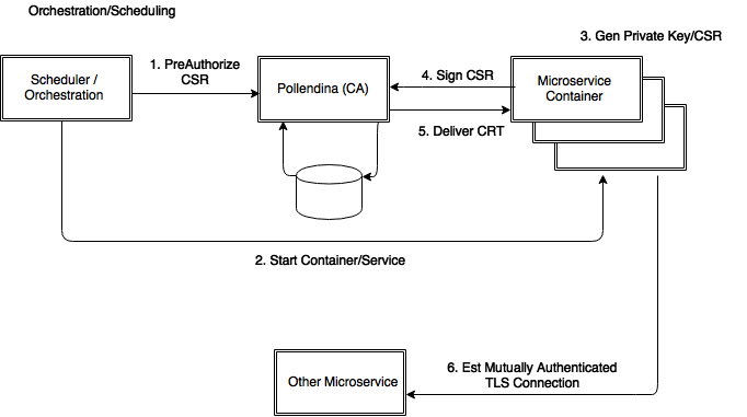 Pollendina PKI infrastructure and architecture