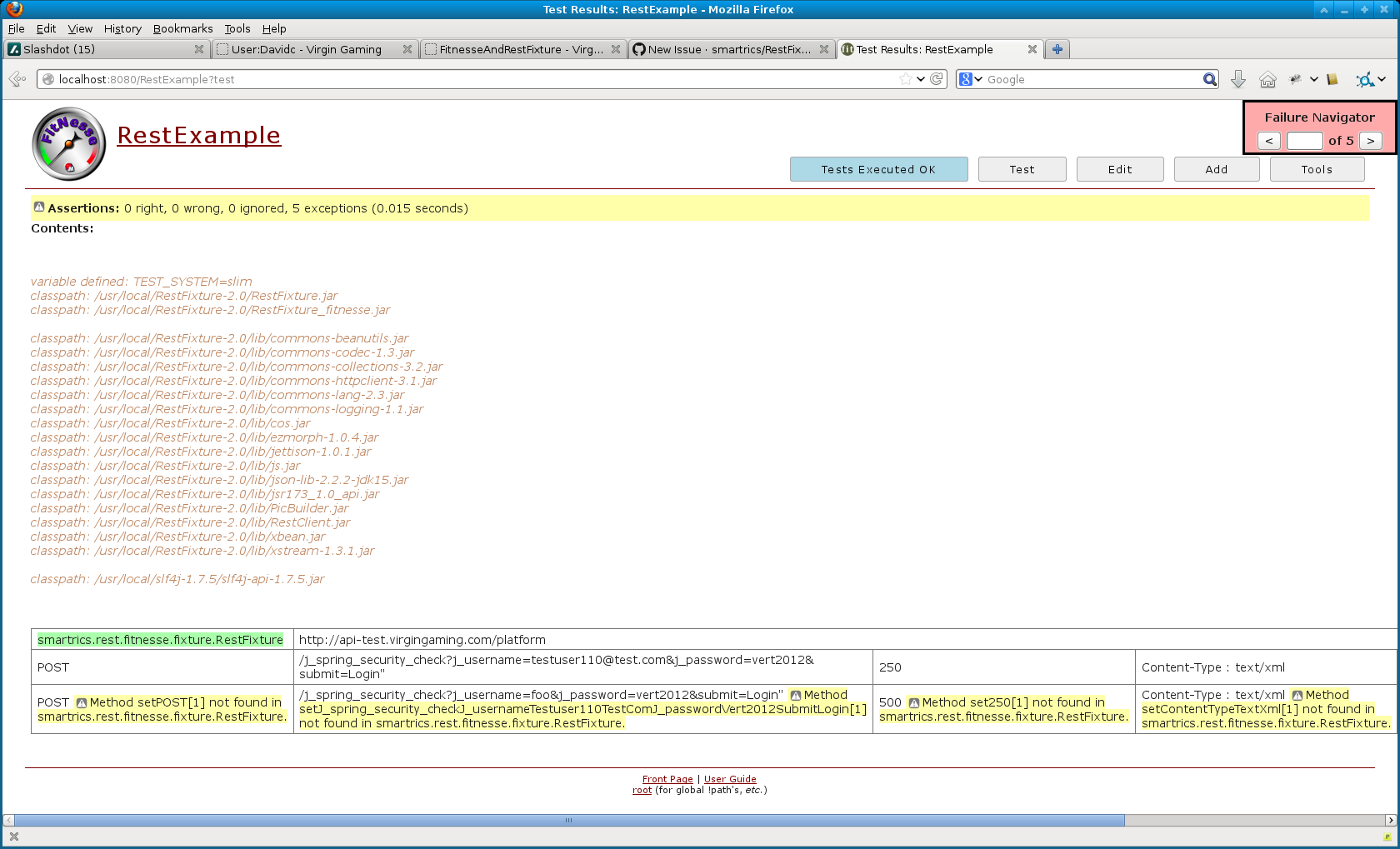 Second and subsequent lines of a test table fail · Issue #72