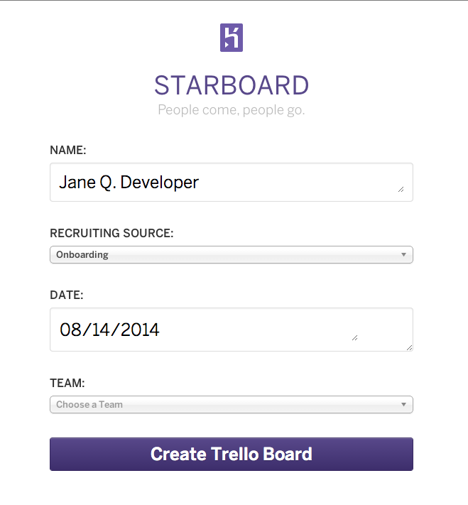 Starboard Web UI Screenshot