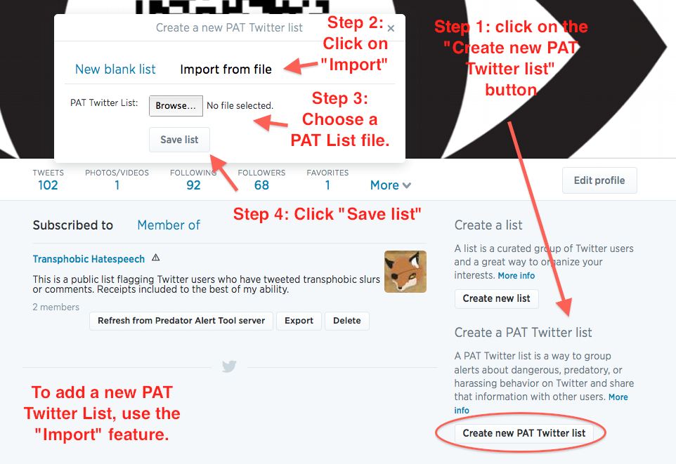 Screenshot with steps marked.