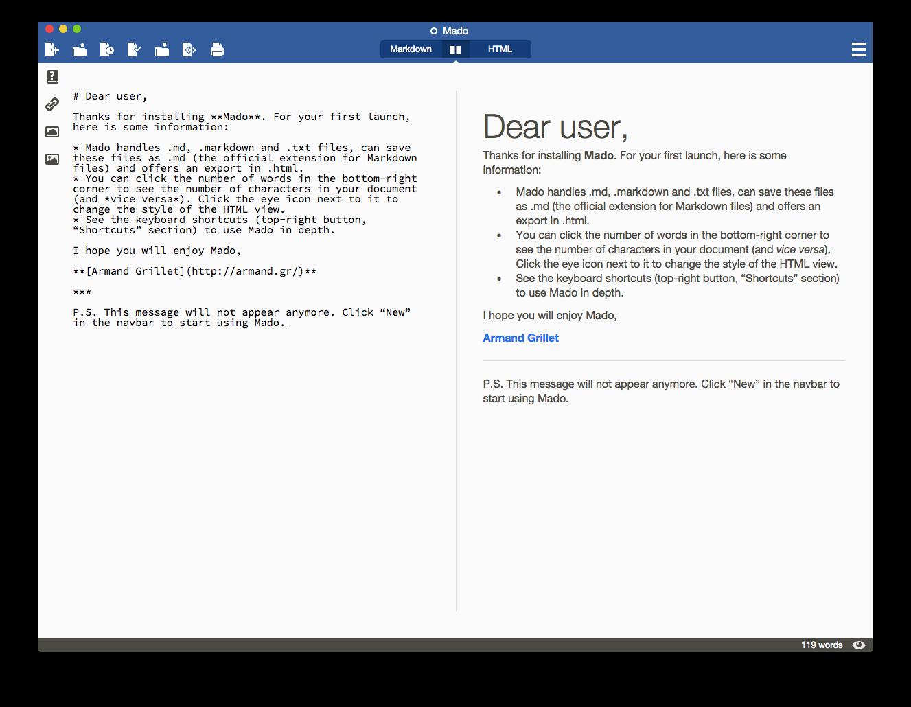 GitHub - ArmandGrillet/Mado: A beautiful Markdown editor designed