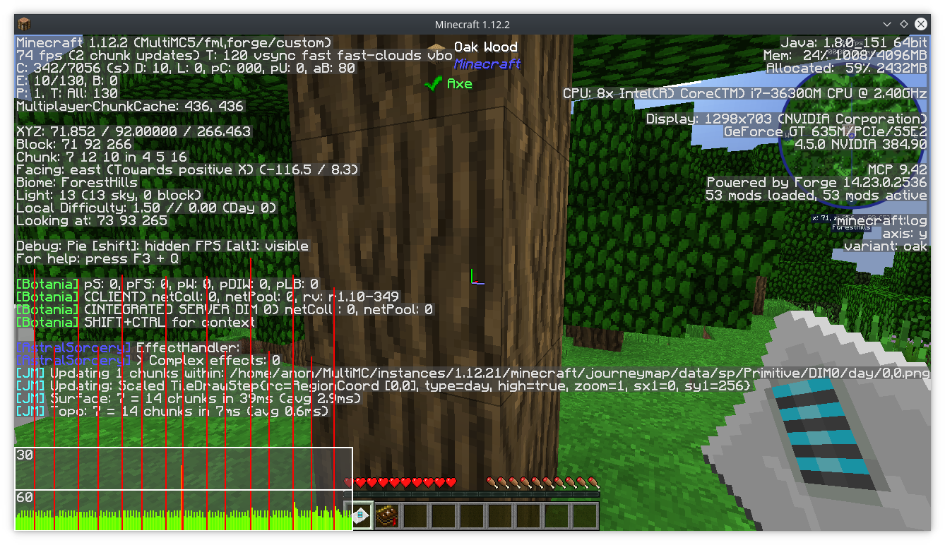 New FasterAnimation Option Causes Constant Stuttering - Journey map para minecraft 1 10