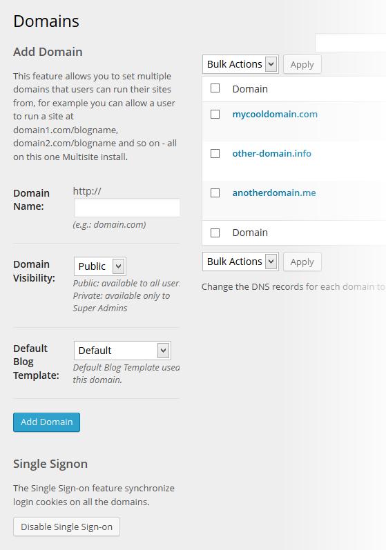 Multi-Domains Settings