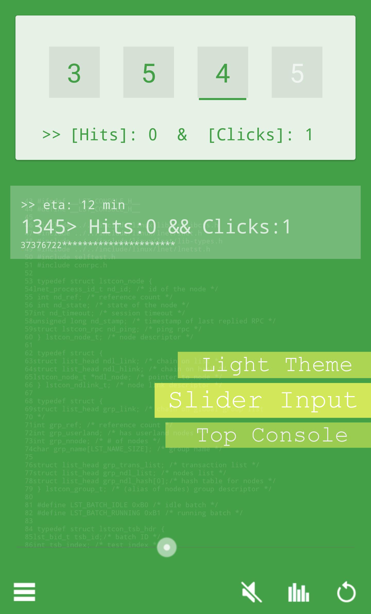 Light Theme: Slider