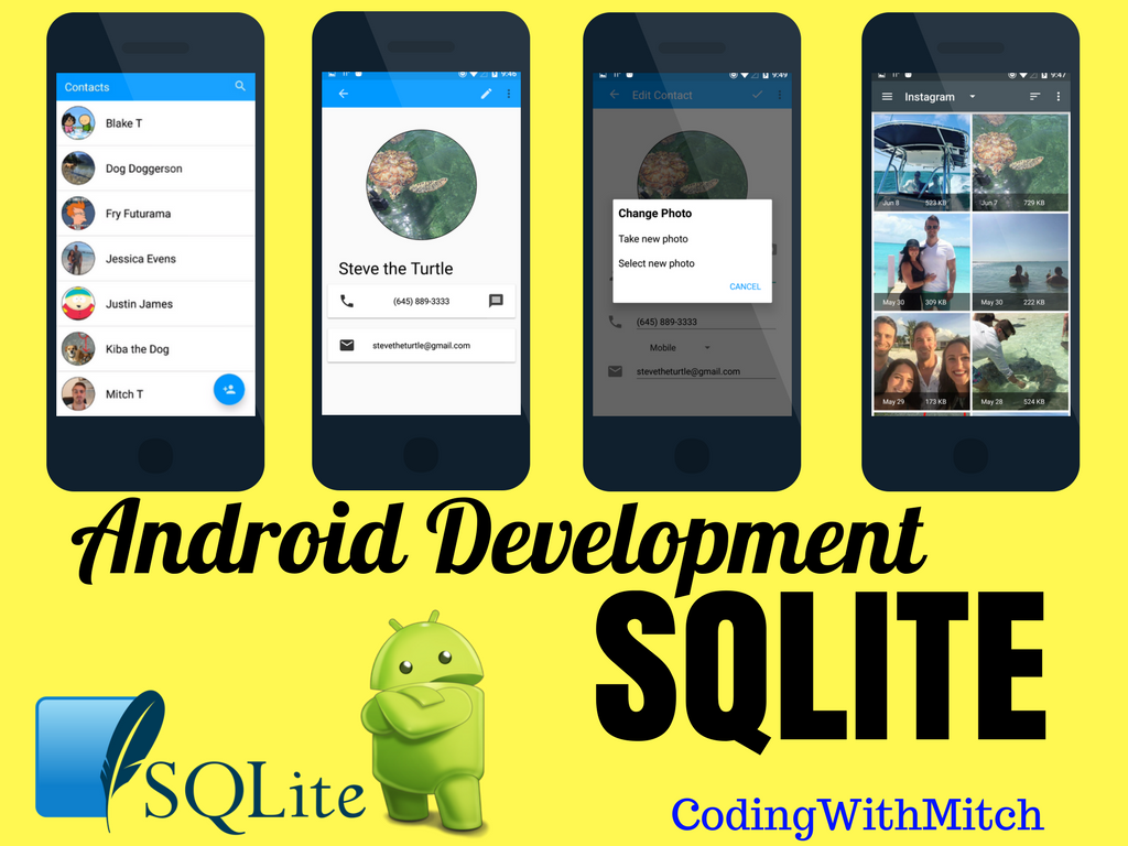 GitHub - mitchtabian/Android-SQLite-Beginner-Course: All source code