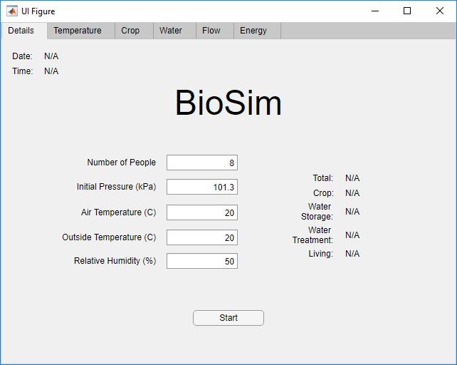 BioSim Start Page