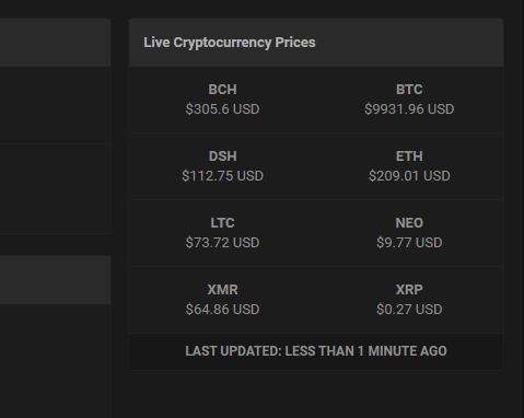 cryptocurrency prices live usd