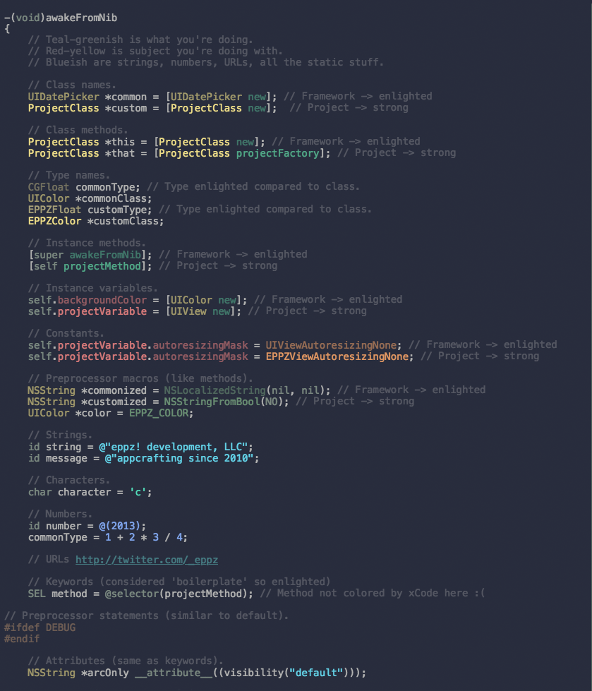 eppz! xCode color scheme preview