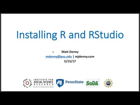 Downloading and Installing R and RStudio