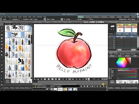 MyPaint brushes in OpenToonz