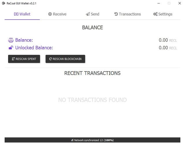 ReCoal GUI Wallet v0.2.1.1