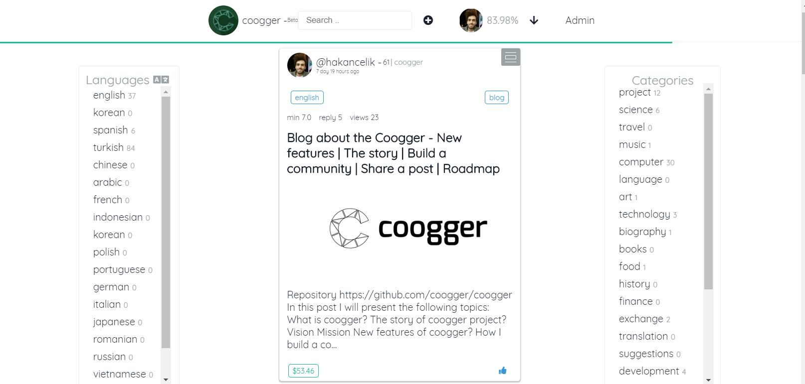 coogger home