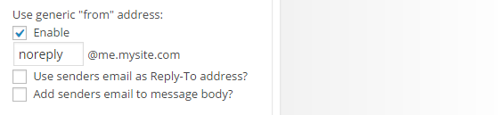 Contact Widget - from address